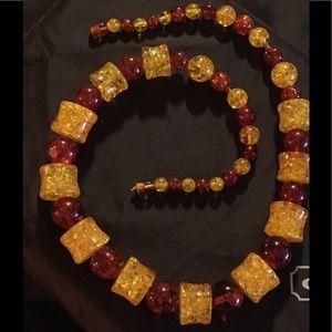 Vintage graduated multicolor Baltic Amber Necklace